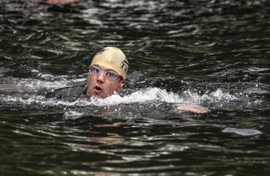 Kronprins Frederik svømmer Copenhagen Ironman 2013, Kronprins Frederik