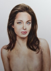 Angelina Jolie bryster middelalderlig maleri